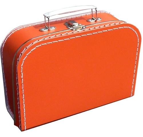 Oranje koffer met naam en/of afbeelding