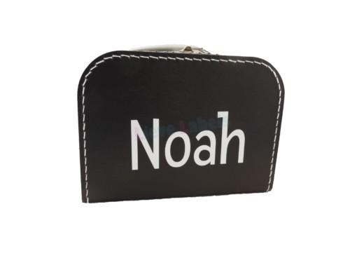 Zwart koffertje met naam en/of afbeelding