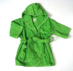 Badjas baby groen