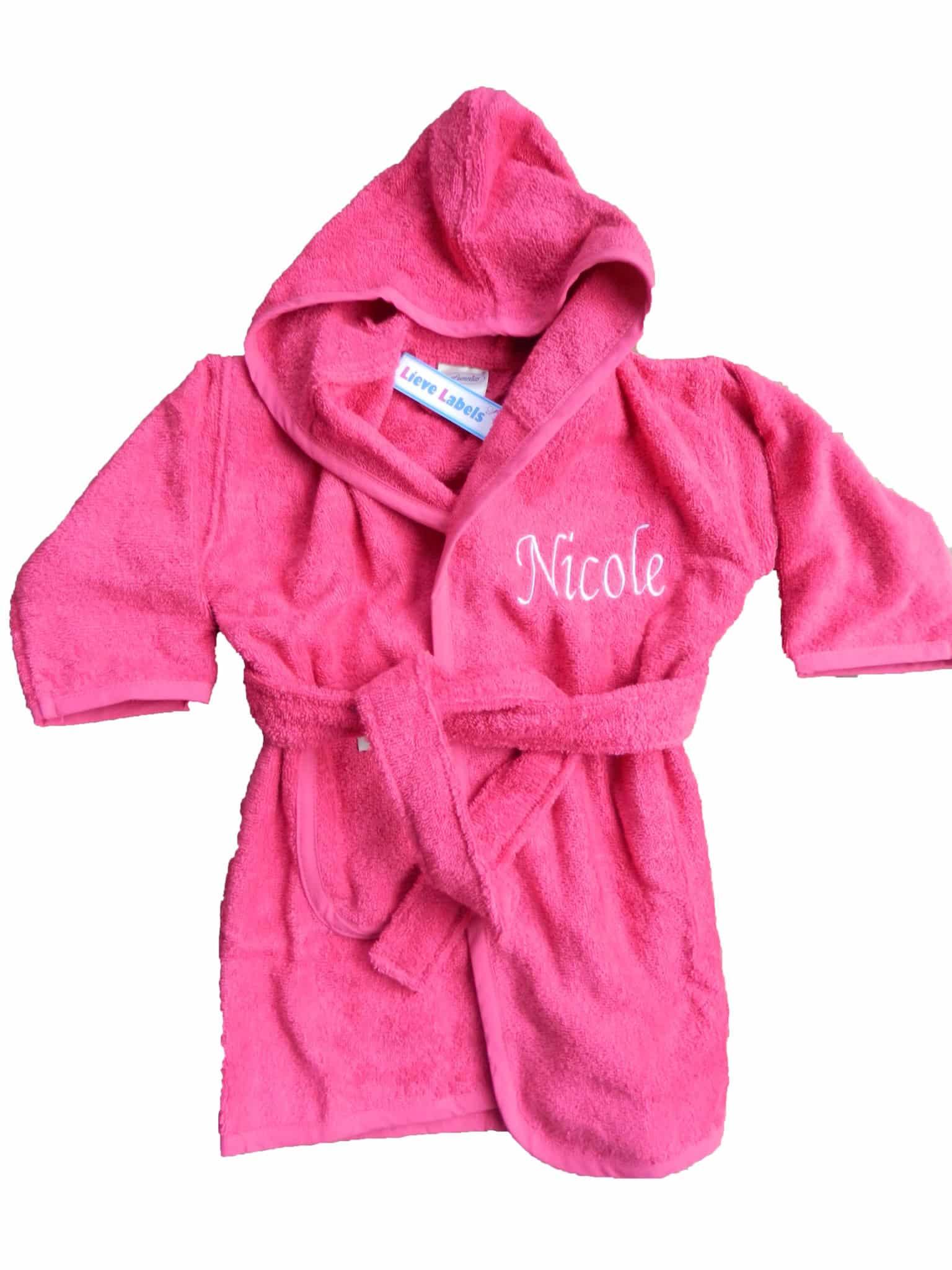 a2d57c5686a Baby Badjas met naam - Lieve Labels.nl