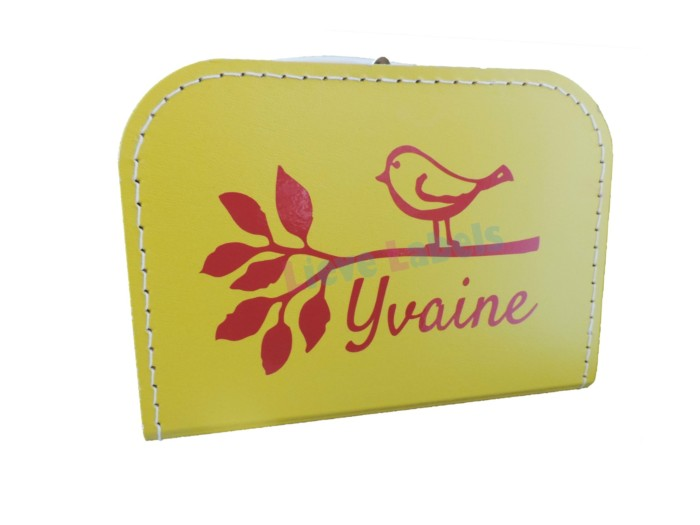 Geel koffertje met naam