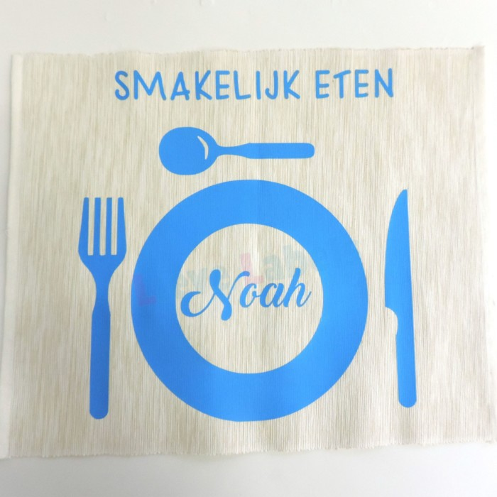 Placemat met naam - ecru