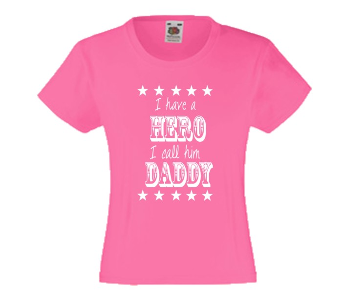 Kinder Shirt I have a hero