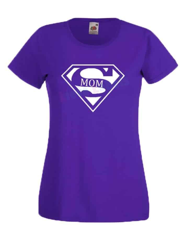 Shirt supermom paars