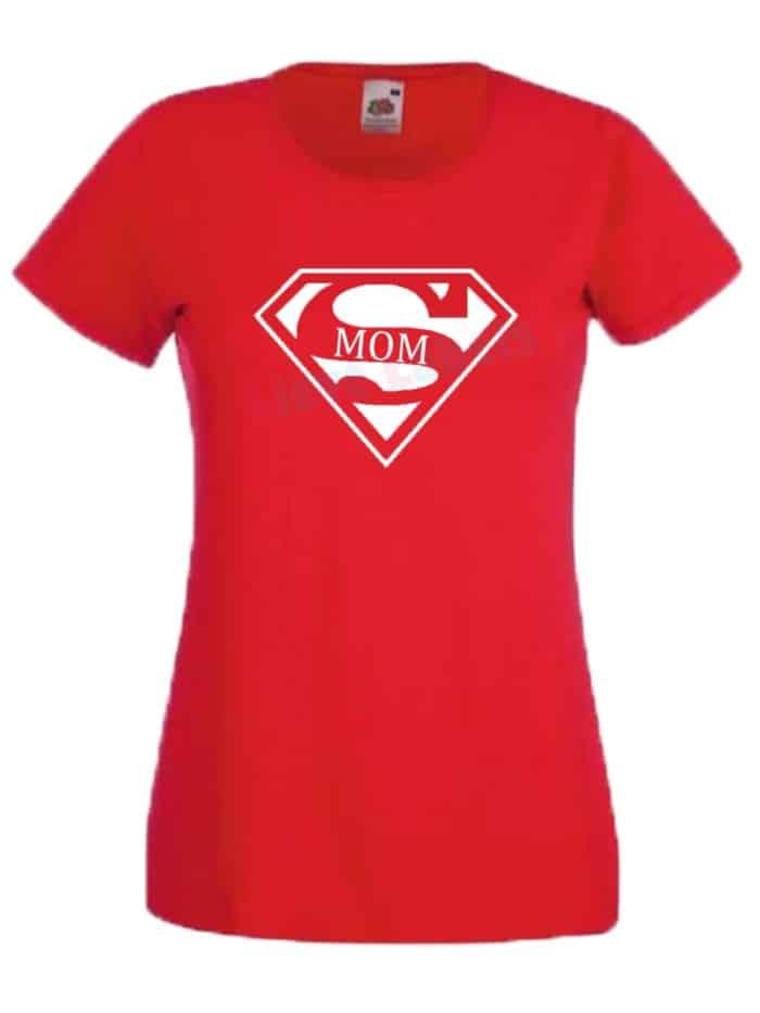 Shirt supermom rood