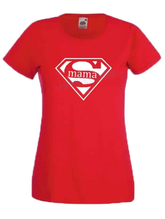 Shirt supermama rood