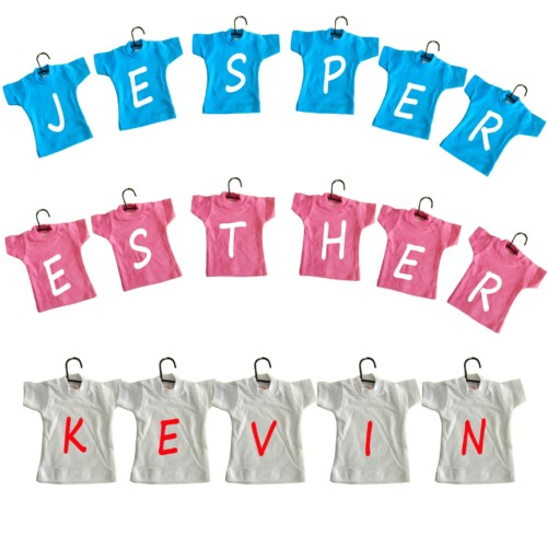 geboorte waslijn van mini t-shirts