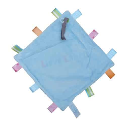 Labeldoekje met naam blauw