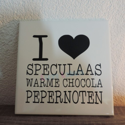 Sint tegeltje - i love speculaas