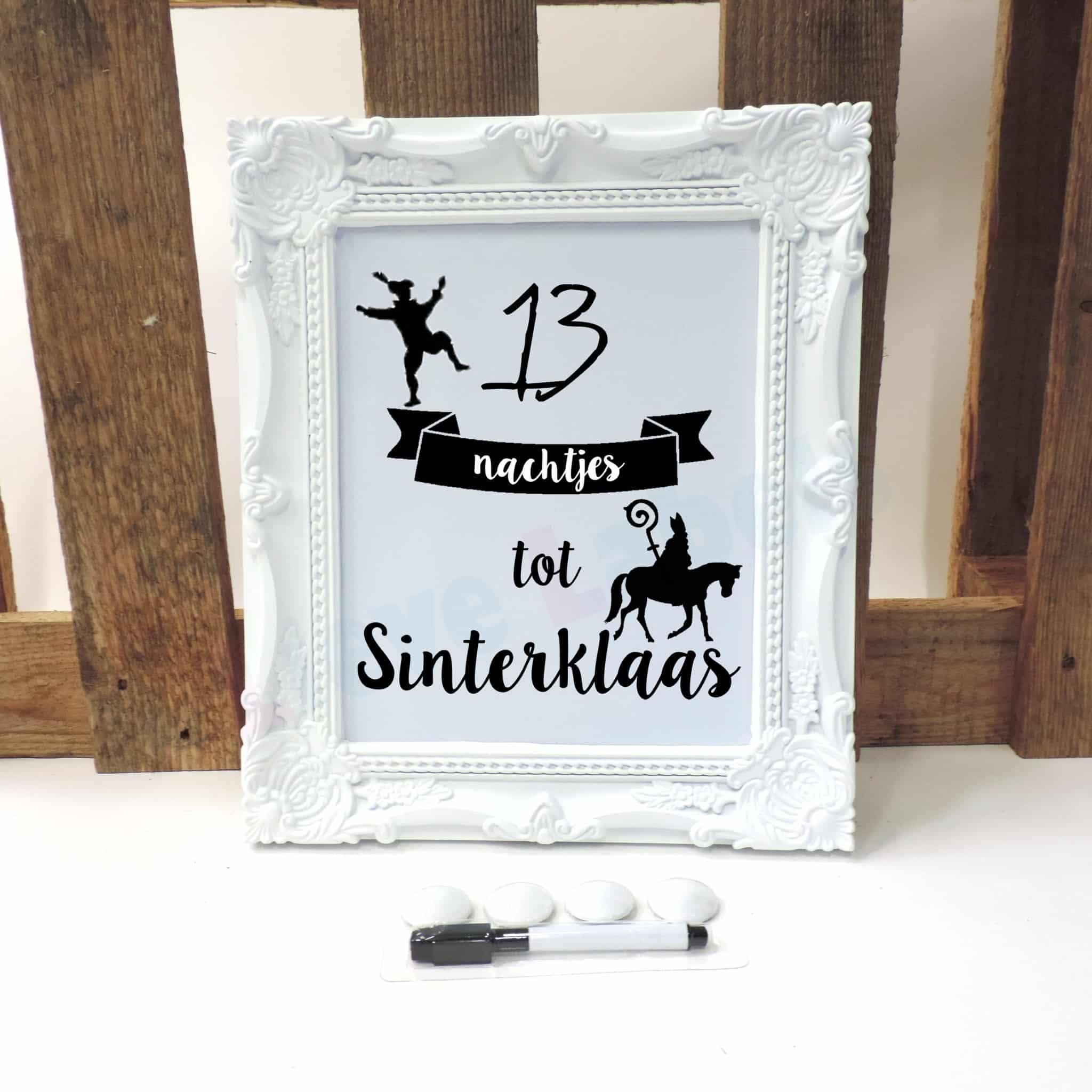 Aftellijst - Sinterklaas wit