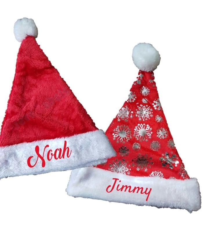 kerstmuts met naam geborduurd