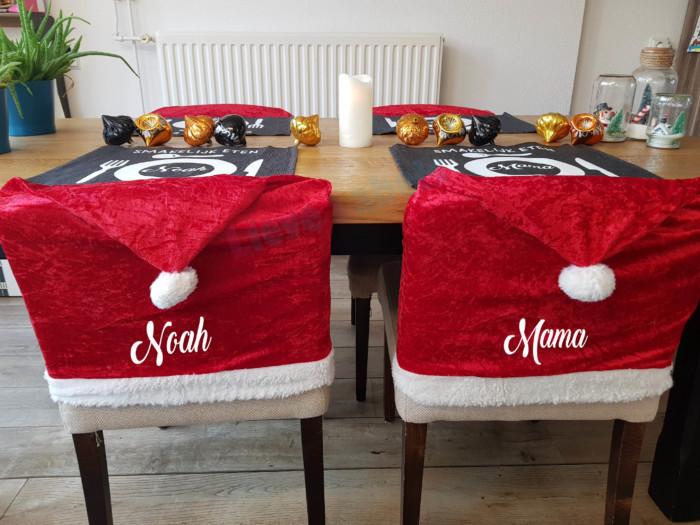 Kerstmuts voor stoel