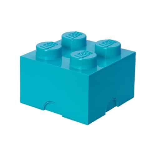 LEGO Opbergbox Brick 4 - Azuur