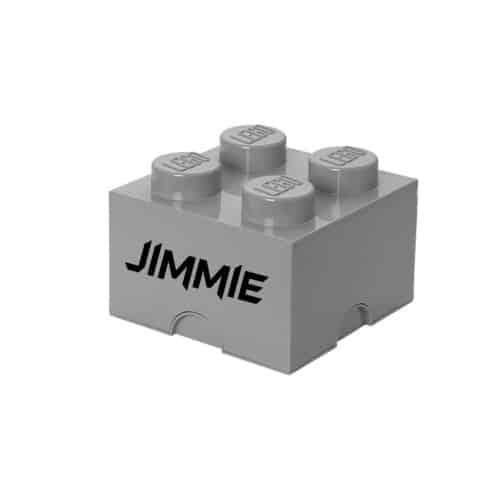 LEGO Opbergbox Brick 4 - Grijs