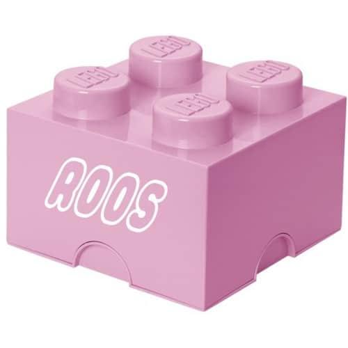 LEGO Opbergbox Brick 4 - Lichtroze