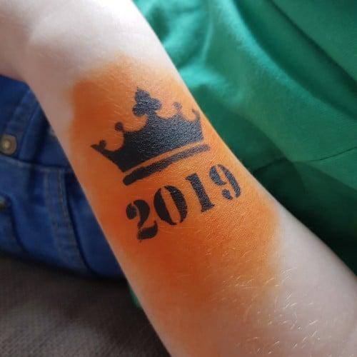 Schmink sjabloon Koningsdag