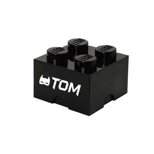 LEGO Opbergbox Brick 4 - Zwart