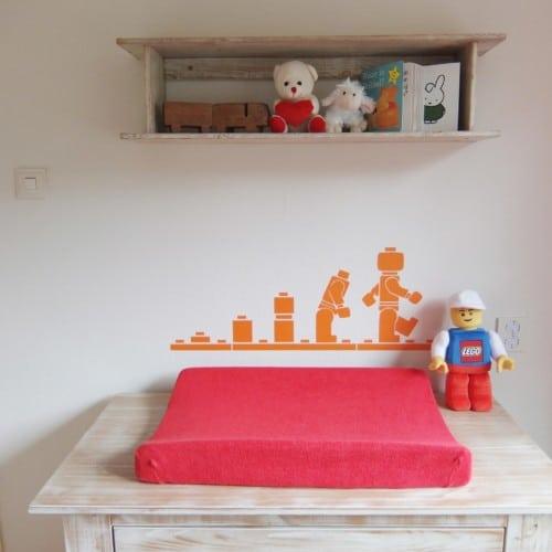 Muursticker Lego voor op de kinderkamer of speelkamer