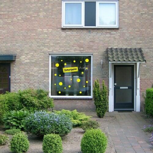 Herbruikbare statische raamstickers - Zomerspelen confetti