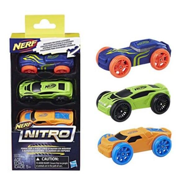 Nerf Nitro Foam Car 3 stuks assorti