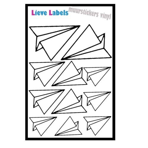 Muurstickers - Paper Planes