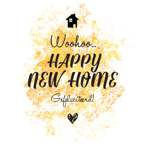 Wijn etiket - Happy New Home