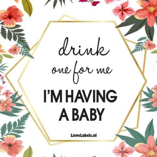 Wijn etiket - Zwanger