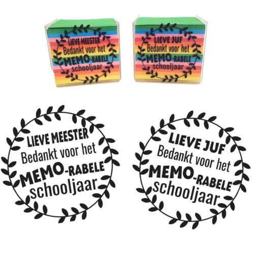 Sticker - Bedankt voor het MEMO-rabele schooljaar