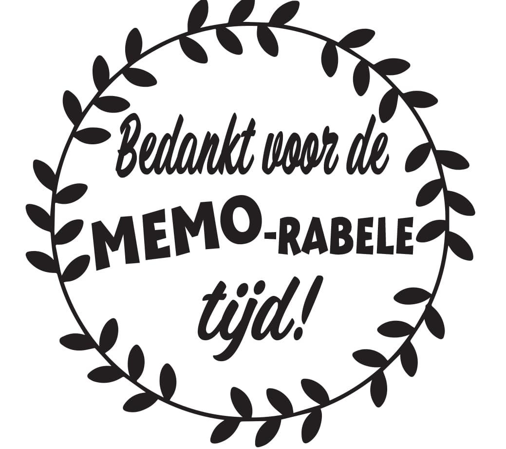 Sticker - Bedankt voor de MEMO-rabele tijd